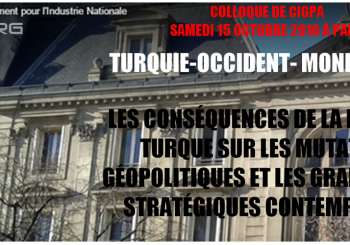 Colloque de CIGPA 15 octobre 2016 : Turquie-occident-monde-arabe